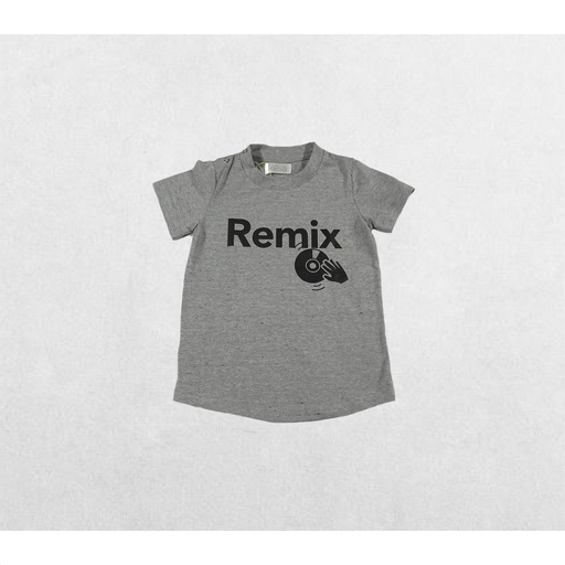 CAMISETA GRIS REMIX